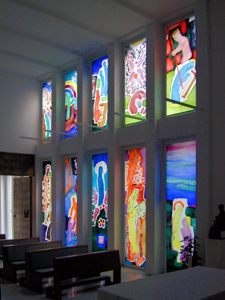 Berlin.Nuntiatur.Buschulte.Fenster.Malerei.7.2002